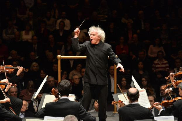 Sir Simon Rattle of the London Symphony Orchestra